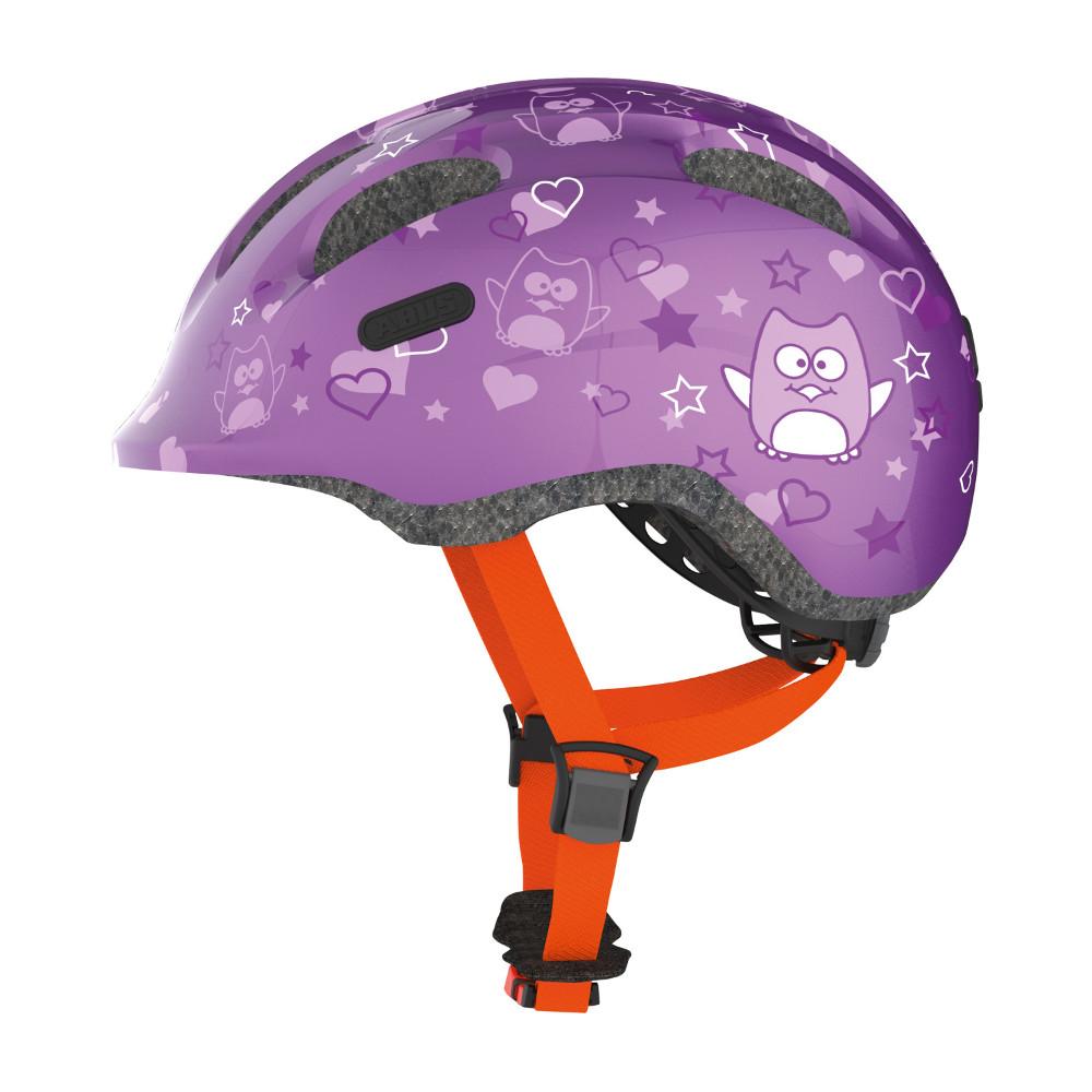 Dětská cyklo přilba Abus Smiley 2.0 Purple Star - S (45-50)