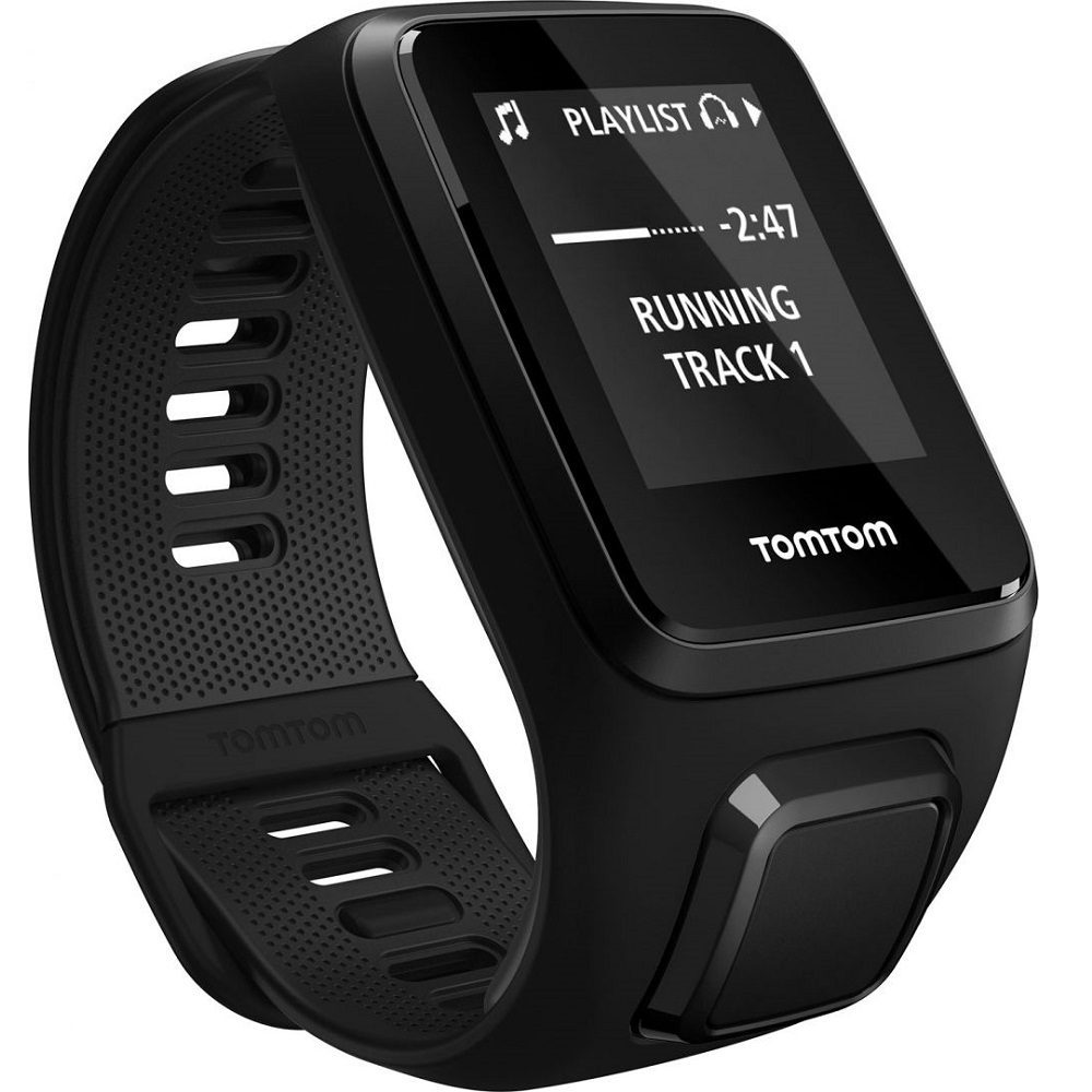 GPS hodinky TomTom Spark 3 Cardio černá - L (143-206 mm)