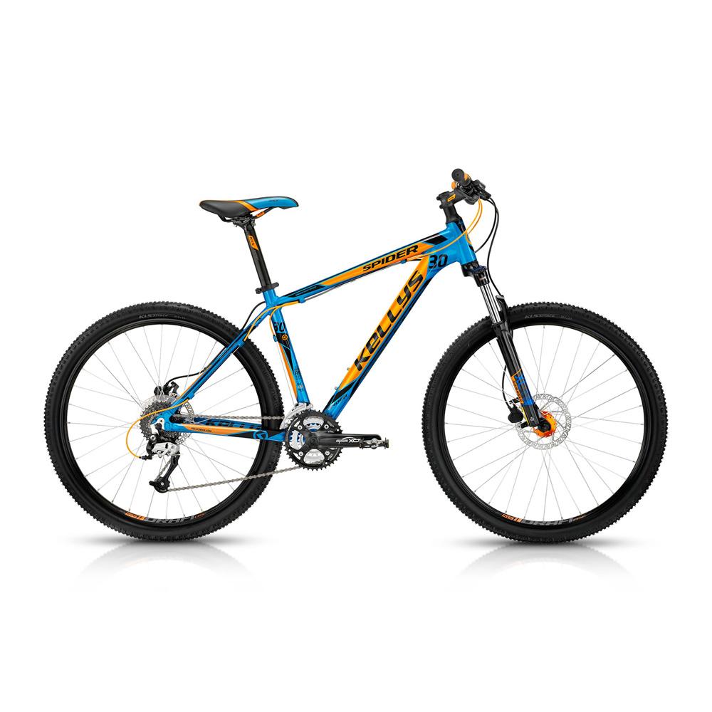 """Horské kolo KELLYS Spider 30 - model 2015 modro-oranžová - 21,5"""" - záruka 5 let"""