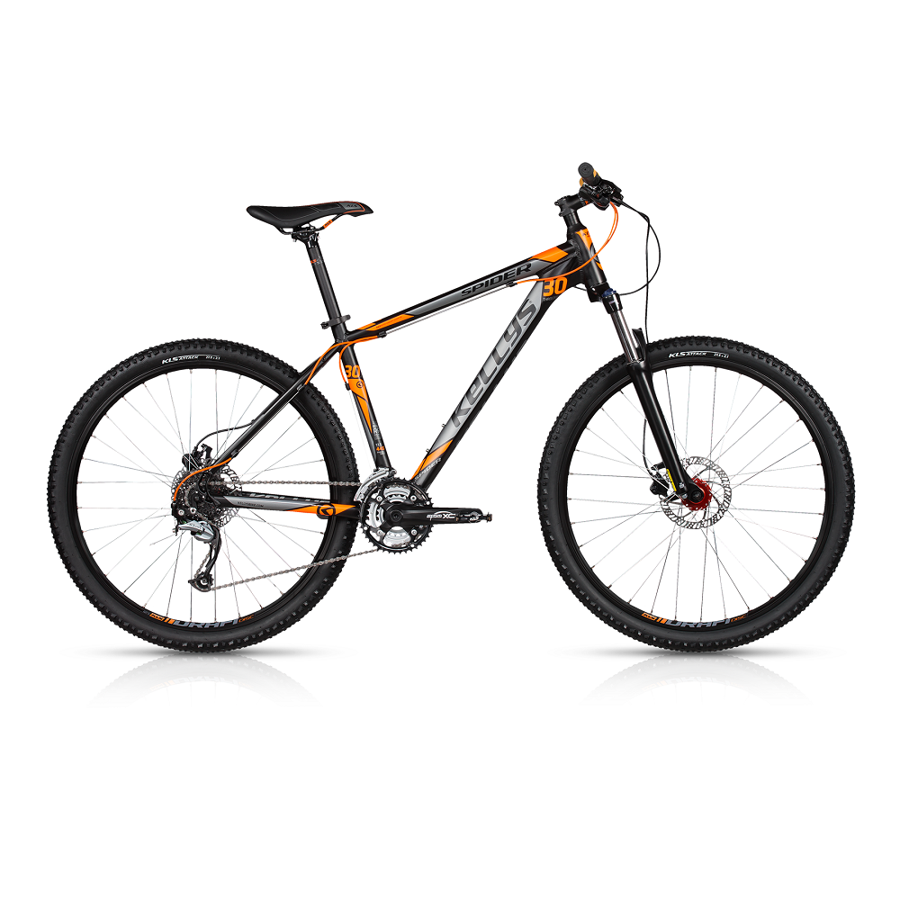"Horské kolo KELLYS SPIDER 30 27,5"" - model 2017 Dark Orange - 395 mm (15,5"") - Záruka 10 let"