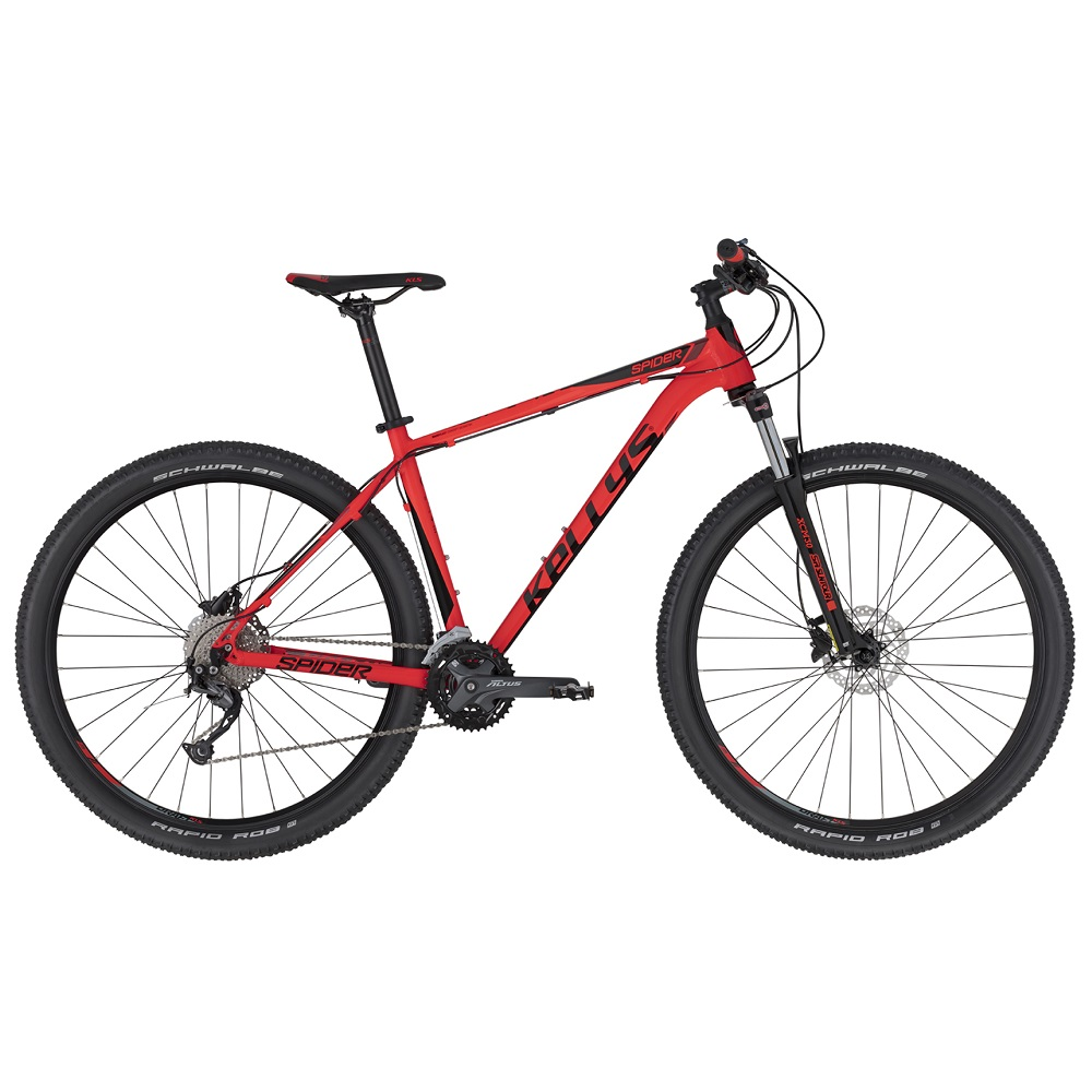 "Horské kolo KELLYS SPIDER 70 29"" - model 2020 Red - S (17'') - Záruka 10 let"