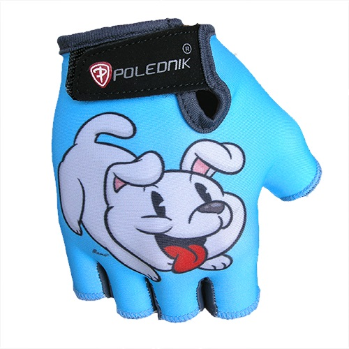 Dětské cyklo rukavice POLEDNIK Baby New štěně - 3