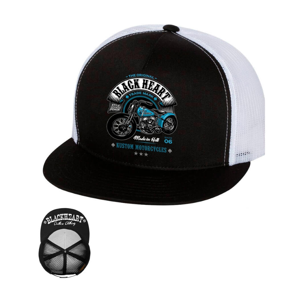 BLACKHEART Style and Power Trucker bílá