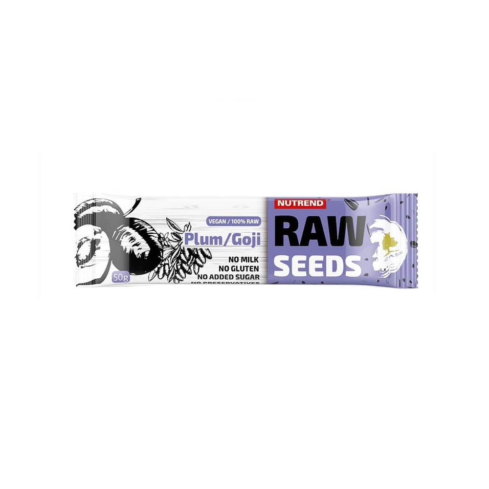 Nutrend Raw Seeds Bar 50 g švestkagoji