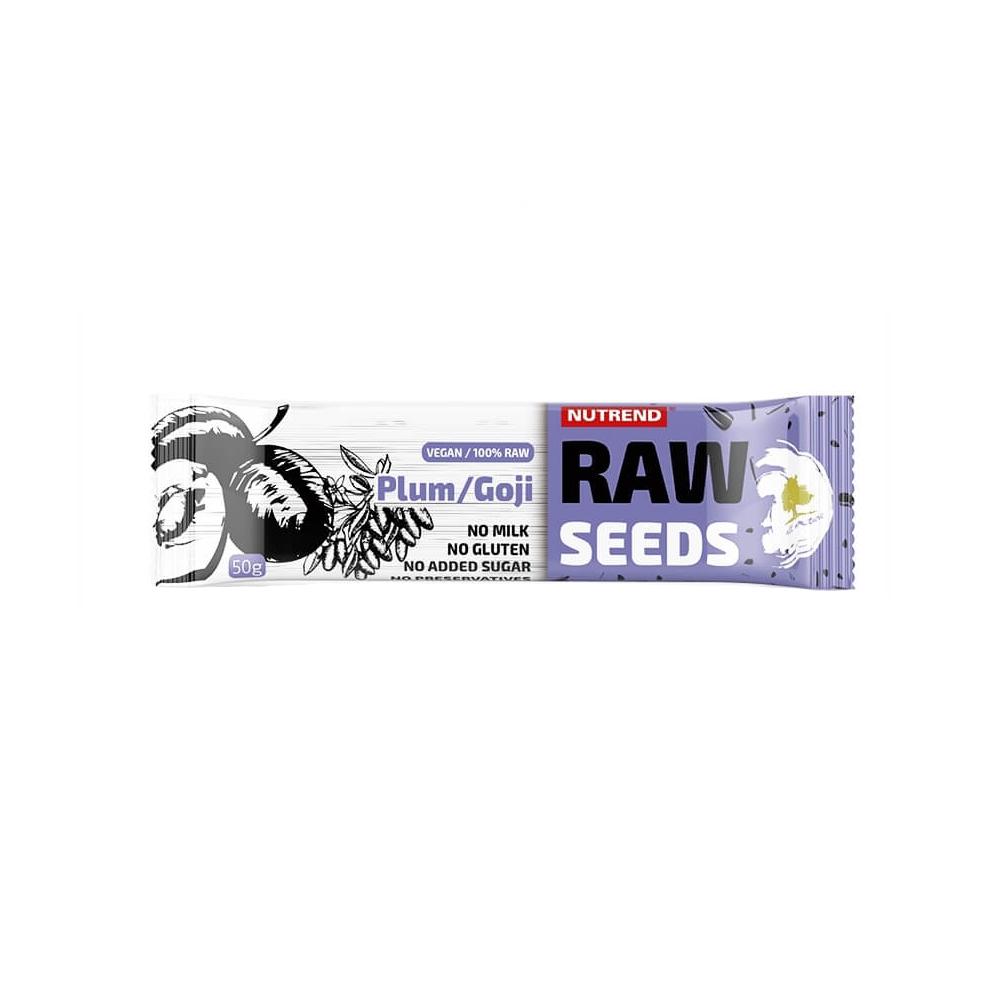 Tyčinka Nutrend Raw Seeds Bar 50 g švestka+goji