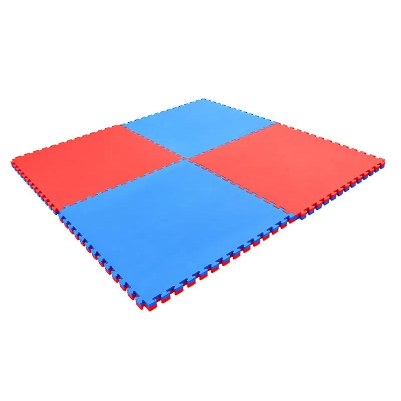 Puzzle podložka Spartan Exercise Matte 100x100x2 cm Blue/Red