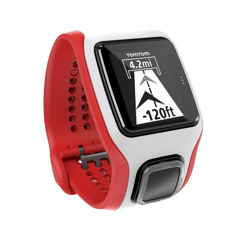 GPS hodinky TomTom MultiSport Cardio bílo-červená