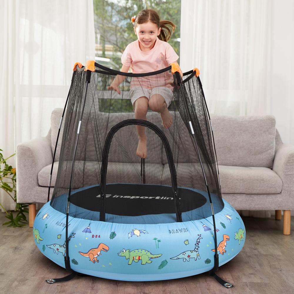 Dětská nafukovací trampolína inSPORTline Nufino 120 cm  modrá