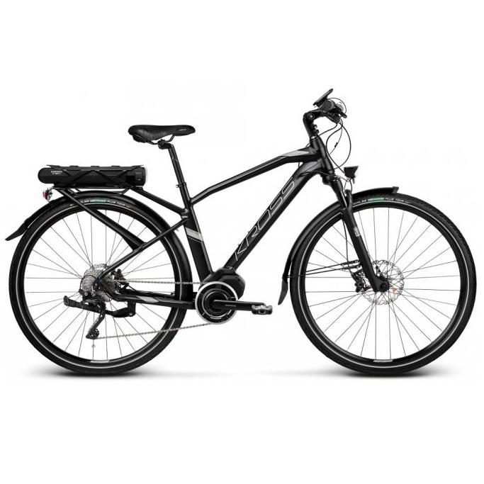 "Trekingové elektrokolo Kross Trans Hybrid 5.0 28"" - model 2019 Black / Graphite Matte - S (17'') - Záruka 10 let"