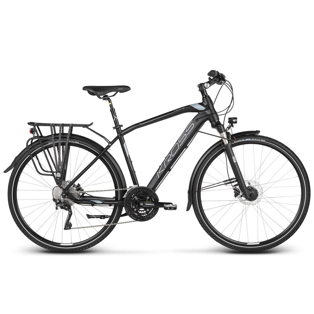 """Pánské trekingové kolo Kross Trans 10.0 28"""" - model 2020 černá/kovová/stříbrná - L (21'') - Záruka 10 let"""