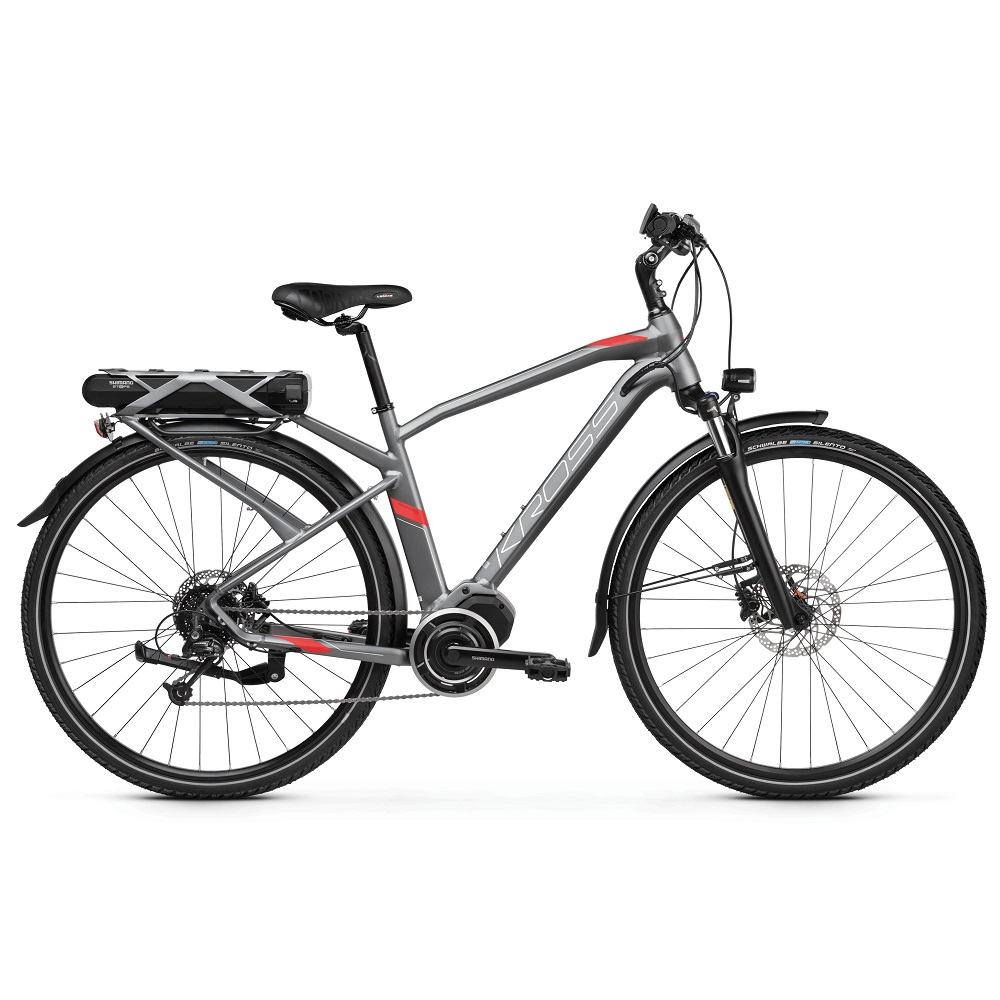 Kross Trans Hybrid 30 28  model 2019 Graphite  Red Matte  S 17