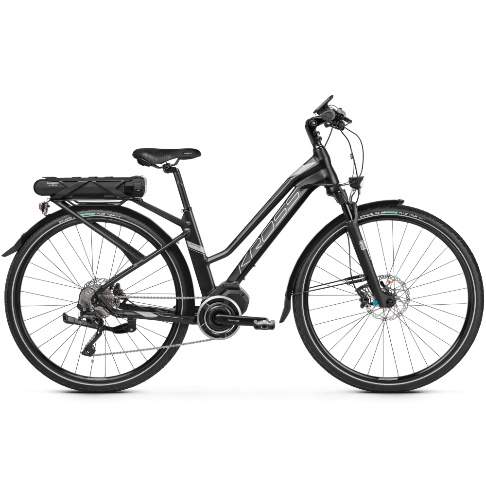 "Dámské trekingové elektrokolo Kross Trans Hybrid 5.0 28"" - model 2020 Black / Graphite Matte - M (17"") - Záruka 10 let"