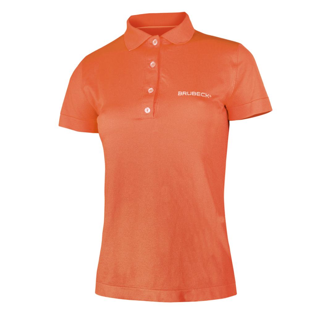 Dámské thermo tričko Brubeck PRESTIGE s límečkem oranžová - S