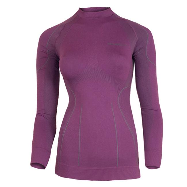 Dámské thermo triko Brubeck THERMO s dlouhým rukávem fialová - L