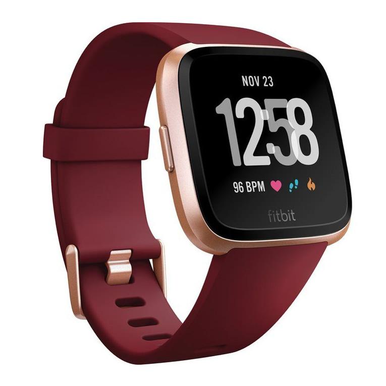 Chytré hodinky Fitbit Versa Merlot Band/Rose Gold Case