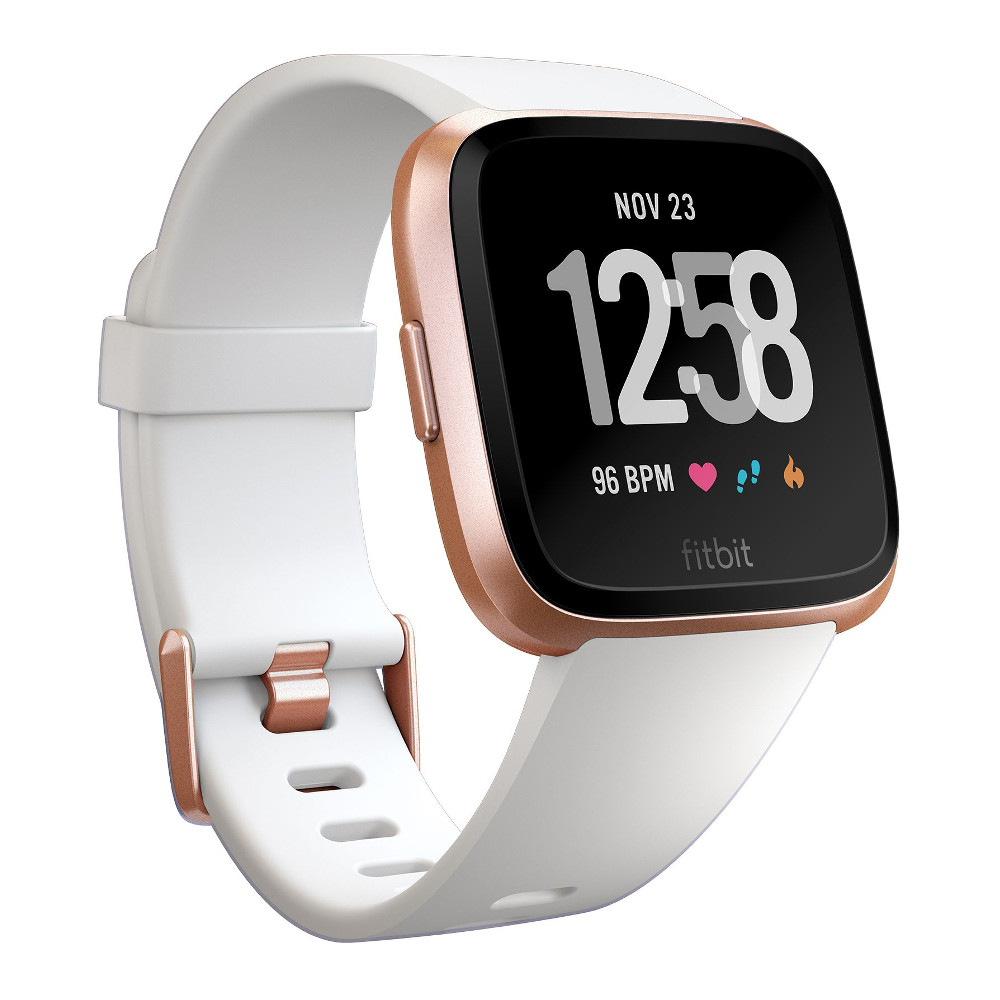 Fitbit Versa White BandRose Gold Case