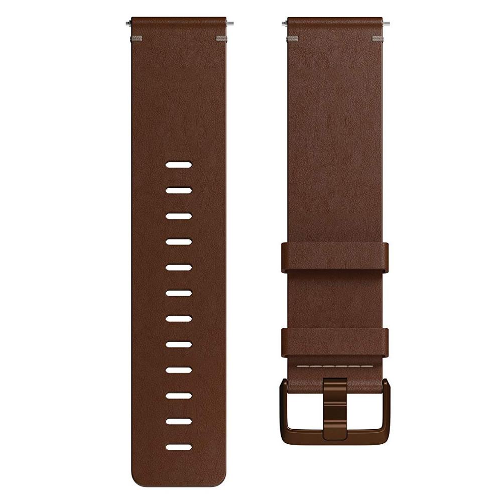 Náhradní řemínek Fitbit Versa Leather Cognac L