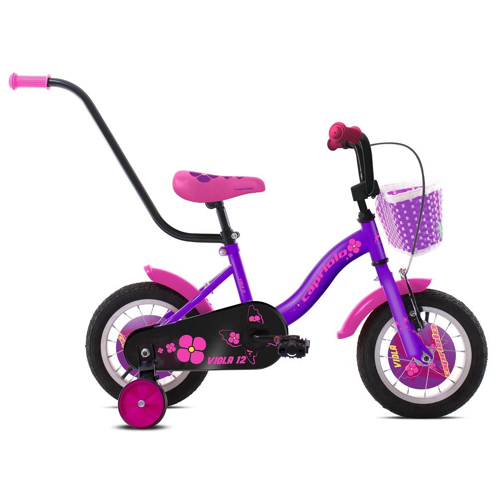 """Dětské kolo Capriolo Viola 12"""" - model 2020 fialová"""