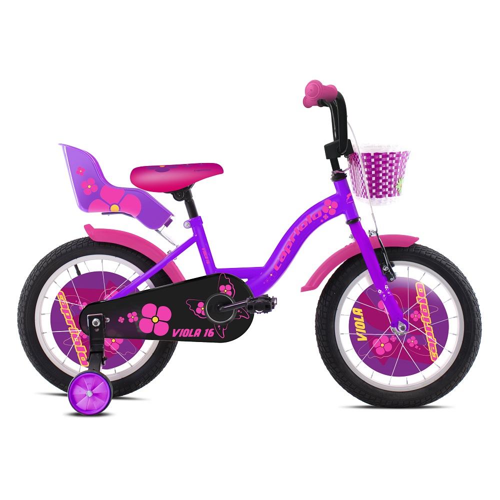 """Dětské kolo Capriolo Viola 16"""" - model 2020 fialová"""