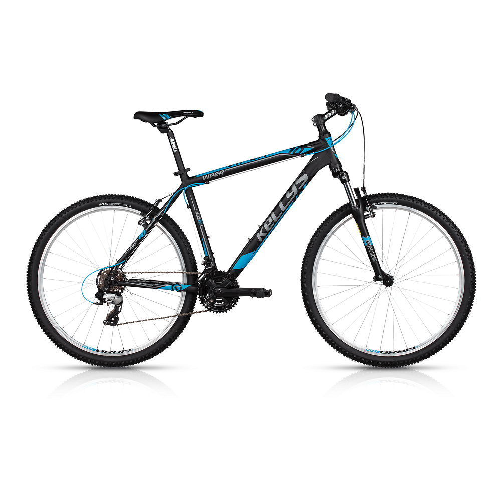 "Horské kolo KELLYS VIPER 10 26"" - model 2017 Black Blue - 445 mm (17,5"") - Záruka 10 let"