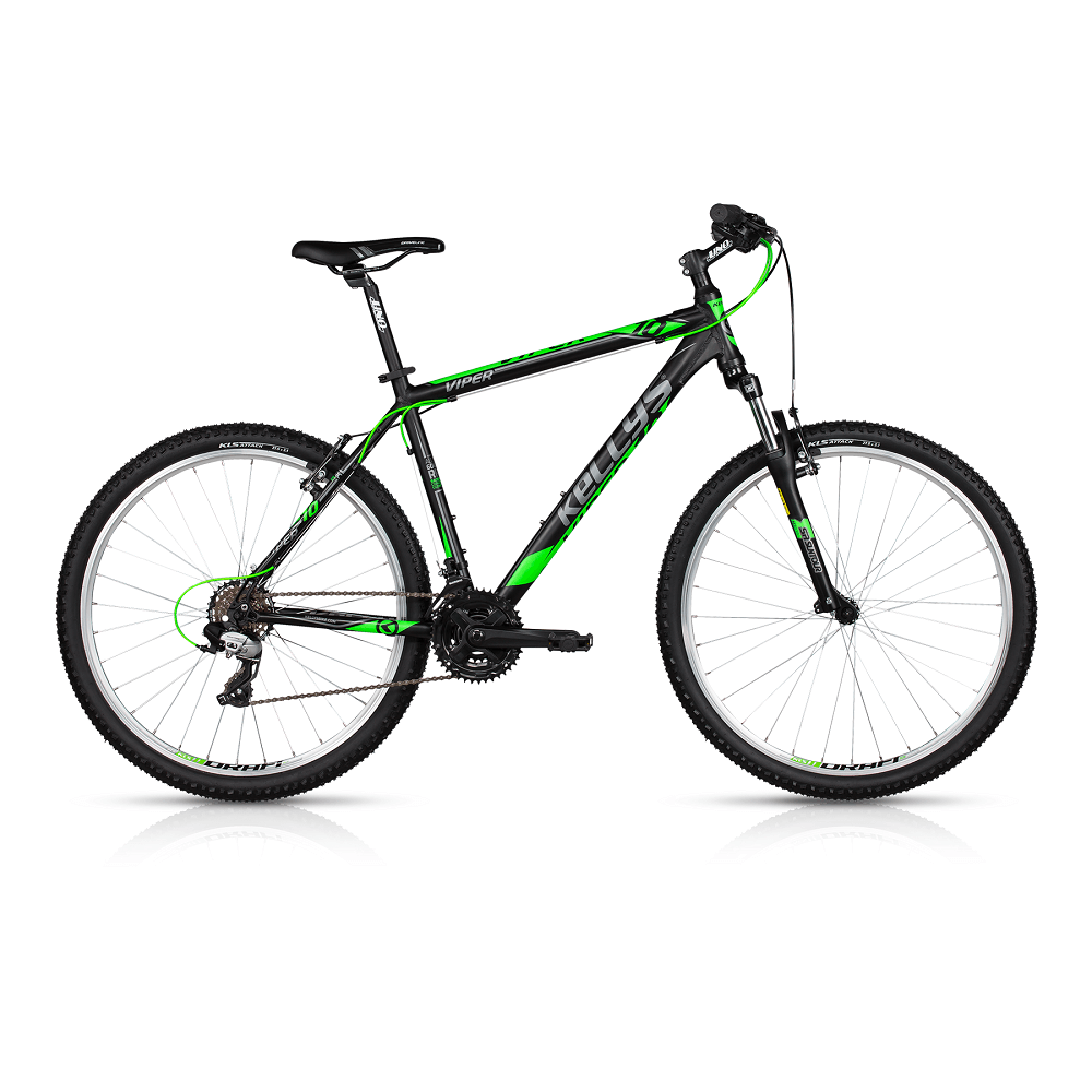 "Horské kolo KELLYS VIPER 10 26"" - model 2017 Black Lime - 395 mm (15,5"") - Záruka 10 let"