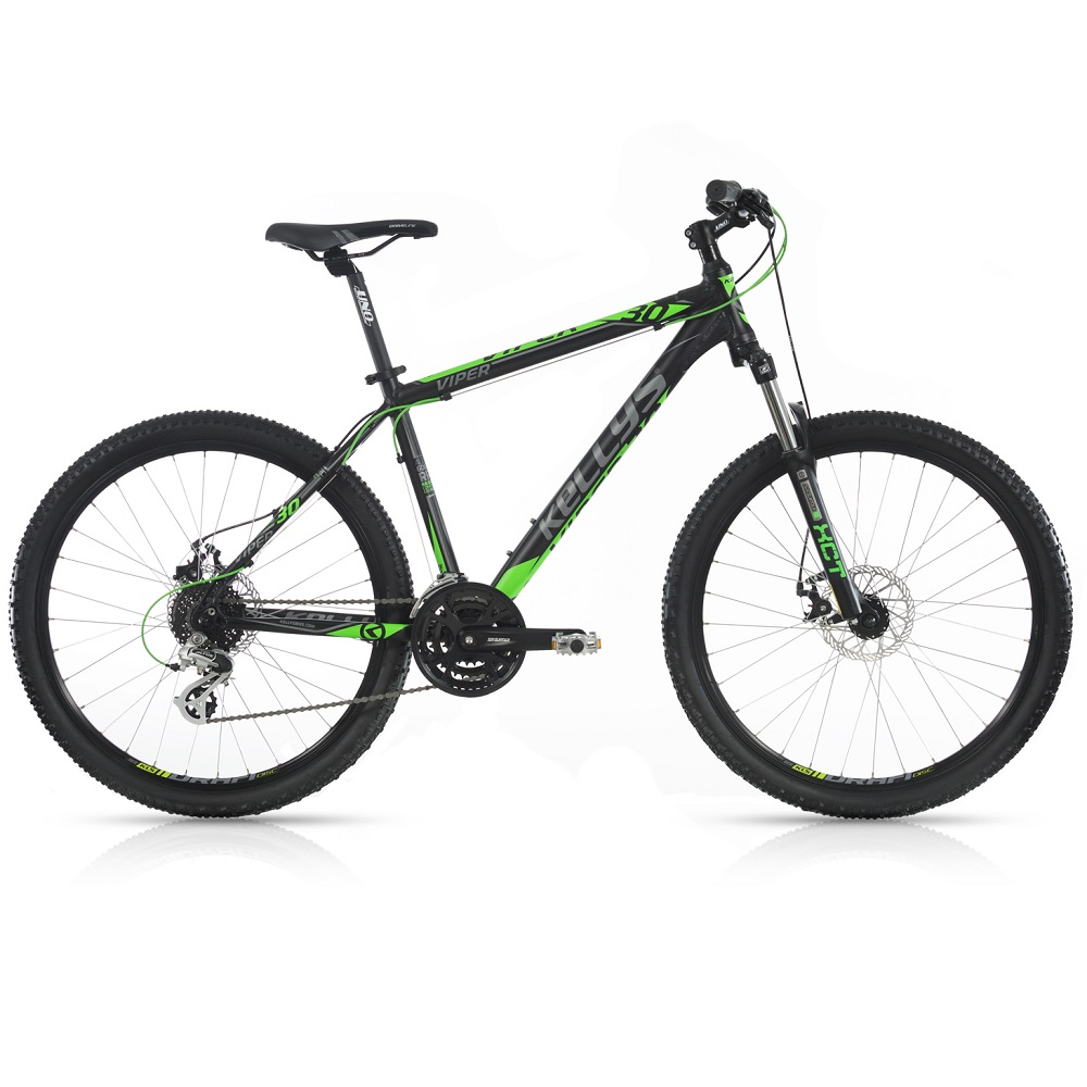 "Horské kolo KELLYS VIPER 30 26"" - model 2017 Black Green - 395 mm (15,5"") - Záruka 10 let"