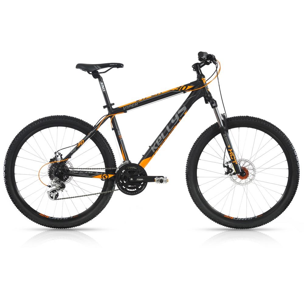 "Horské kolo KELLYS VIPER 30 26"" - model 2017 Black Orange - 395 mm (15,5"") - Záruka 10 let"