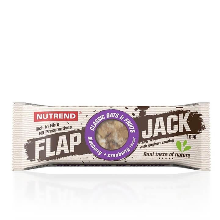 Tyčinka Nutrend FlapJack 100 g borůvka+brusinka s jogurtovou polevou