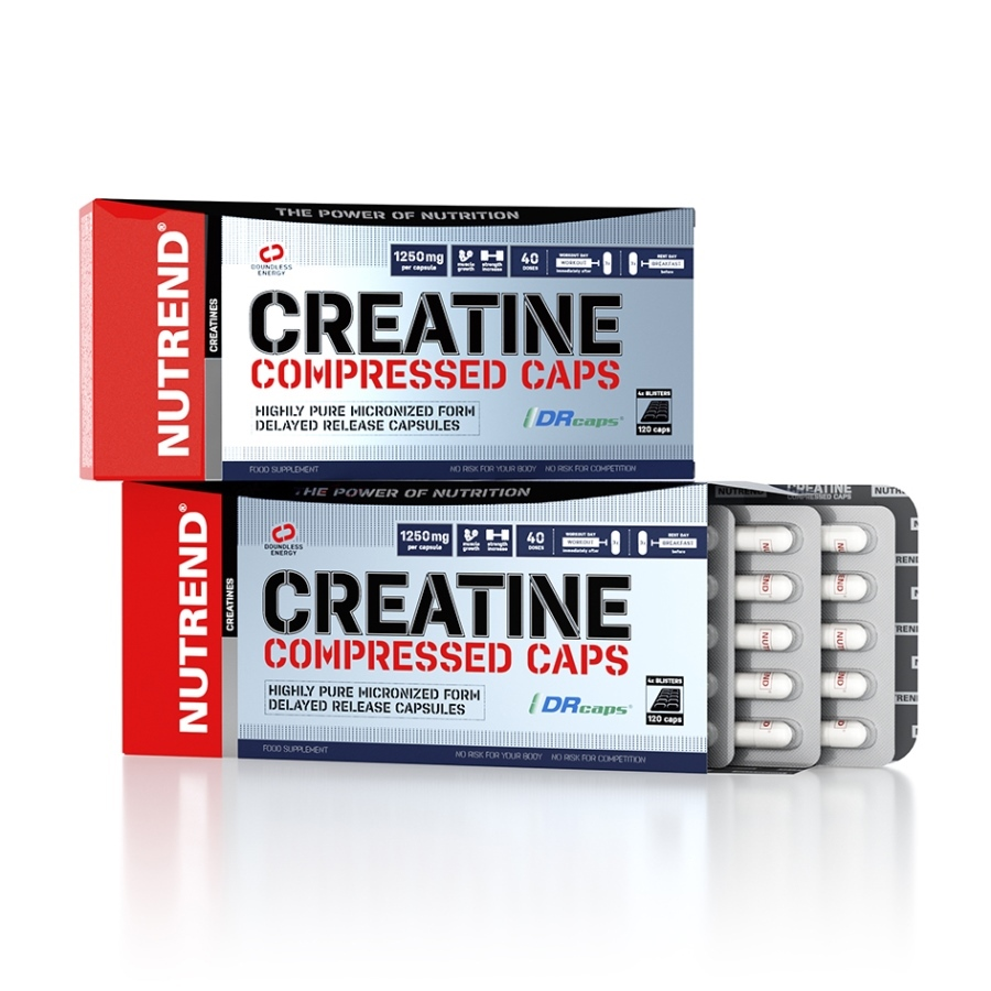 Nutrend Creatine Compressed Caps 120 kapslí