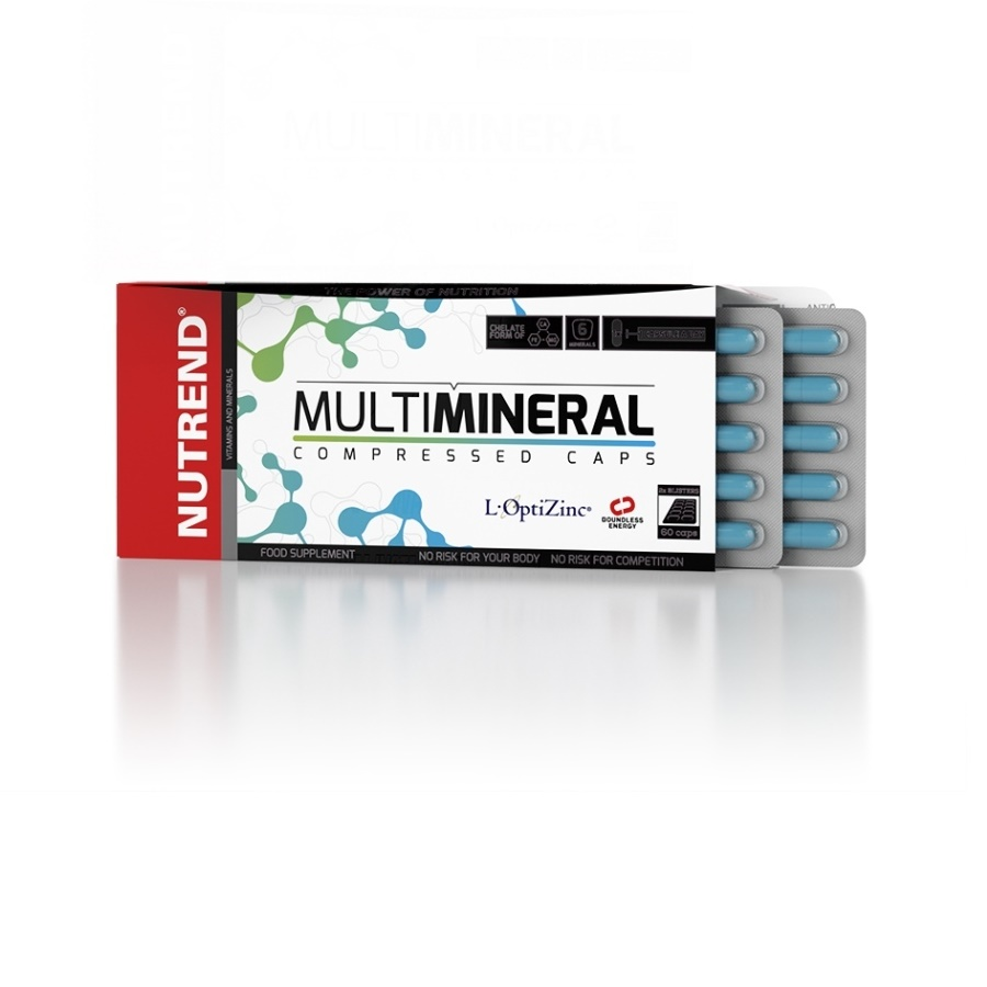 Vitamíny Nutrend Multimineral Compressed Caps 60 kapslí