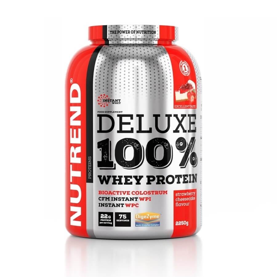 Práškový koncentrát Nutrend Deluxe 100% WHEY 2250g čokoláda+lískový ořech