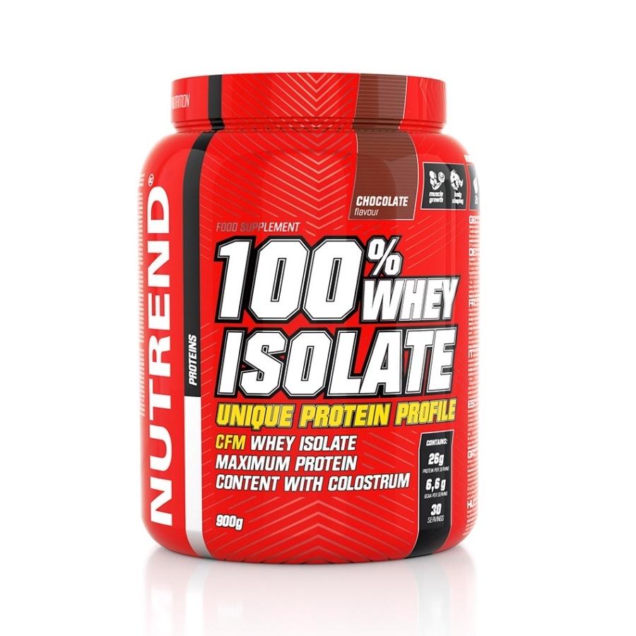 Práškový koncentrát Nutrend 100% WHEY Isolate 900g čokoláda