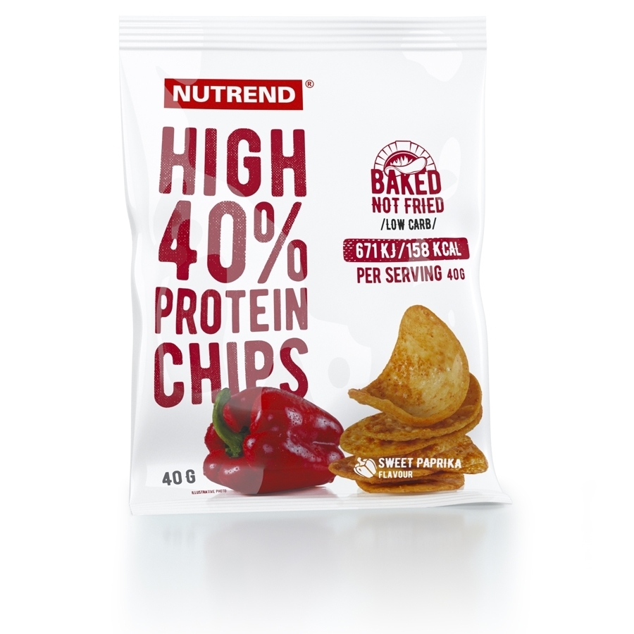 Nutrend High Protein Chips 6x40g sůl