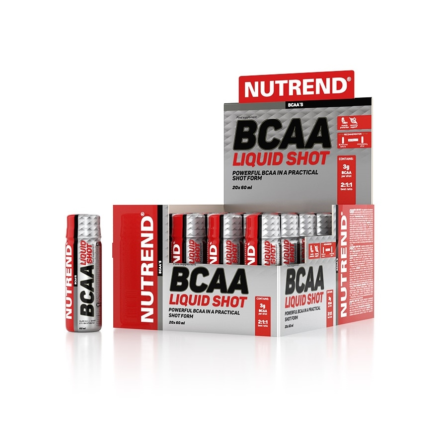 Aminokyseliny Nutrend BCAA Liquid Shot 20x60 ml