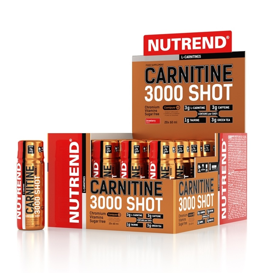 Nutrend Carnitine 3000 SHOT 20x60 ml jahoda
