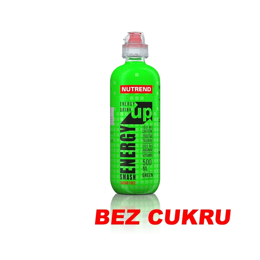 Energetický nápoj Nutrend Smash Energy Up 500 ml green (bez cukru)
