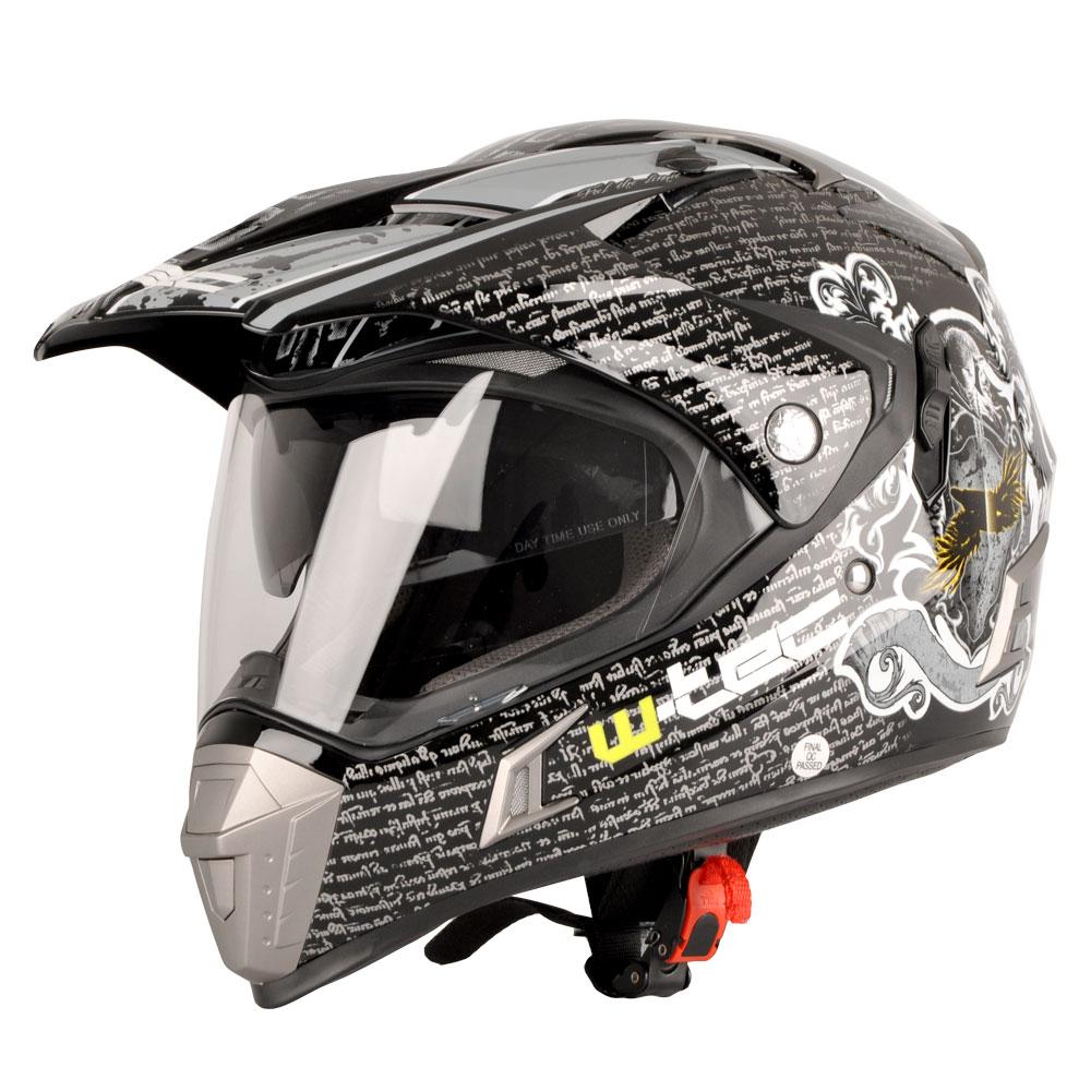Moto přilba W-TEC NK-311 Black Grey Shield - XXL (63-64)