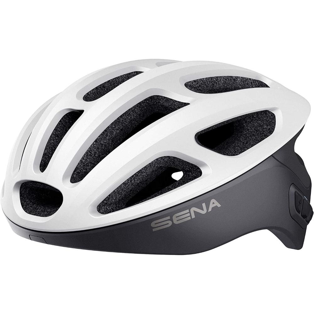 Cyklo přilba SENA R1 s integrovaným headsetem matná bílá - S (50-55)