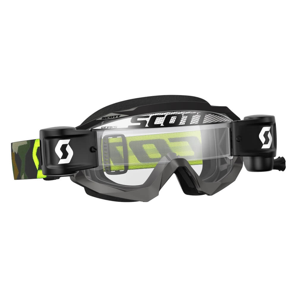Moto brýle SCOTT Hustle MXVII WFS grey-fluo yellow-clear