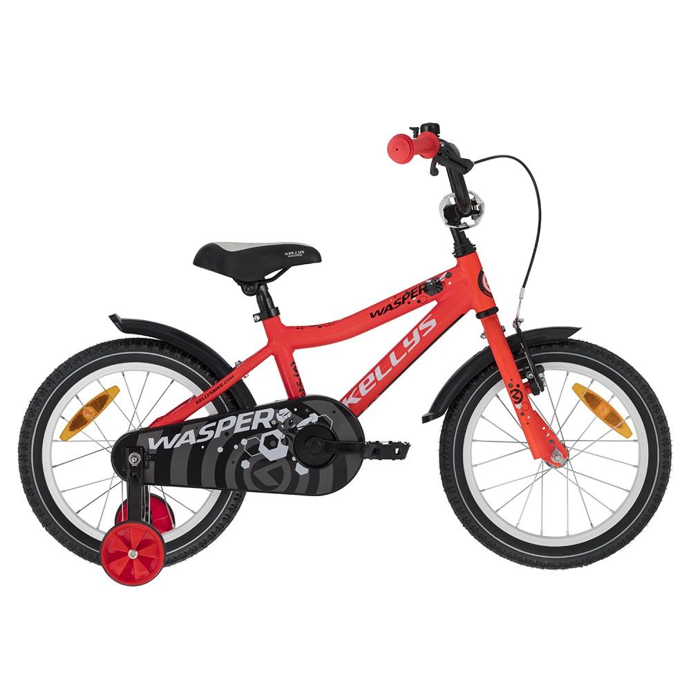 """Dětské kolo KELLYS WASPER 16"""" - model 2021 Red - Záruka 10 let"""