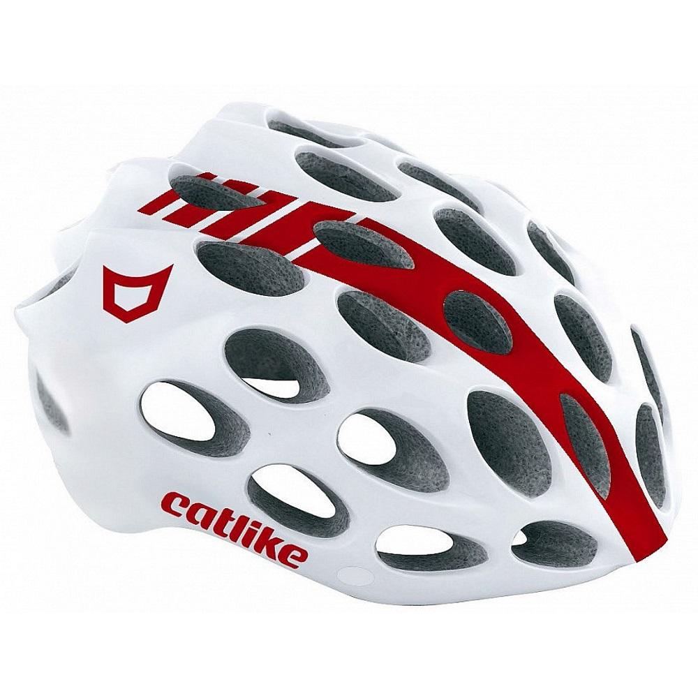 Cyklo přilba CATLIKE Whisper bílo-červená - LG