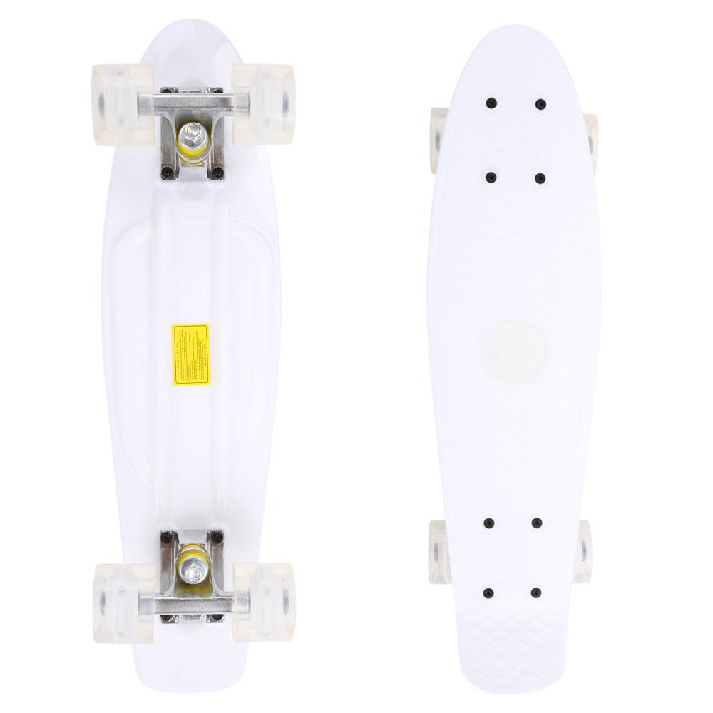 Penny board Maronad Retro se svítícími kolečky bílá