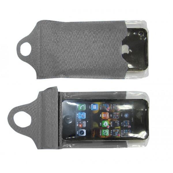 Nepromokavý obal na telefon Yate 14x10 cm šedá