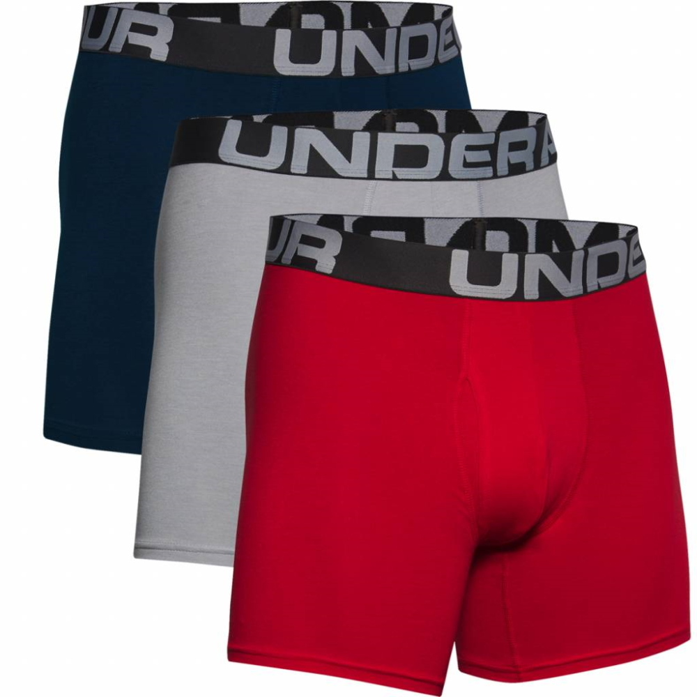 Under Armour Charged Cotton 6in 3 páry Red - S