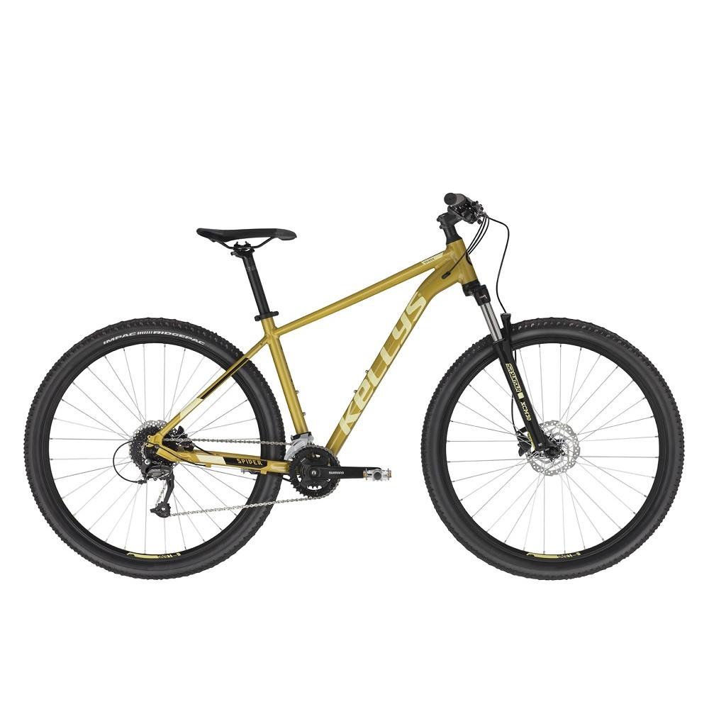 """Horské kolo KELLYS SPIDER 70 29"""" - model 2021 Yellow - M (19'') - Záruka 10 let"""