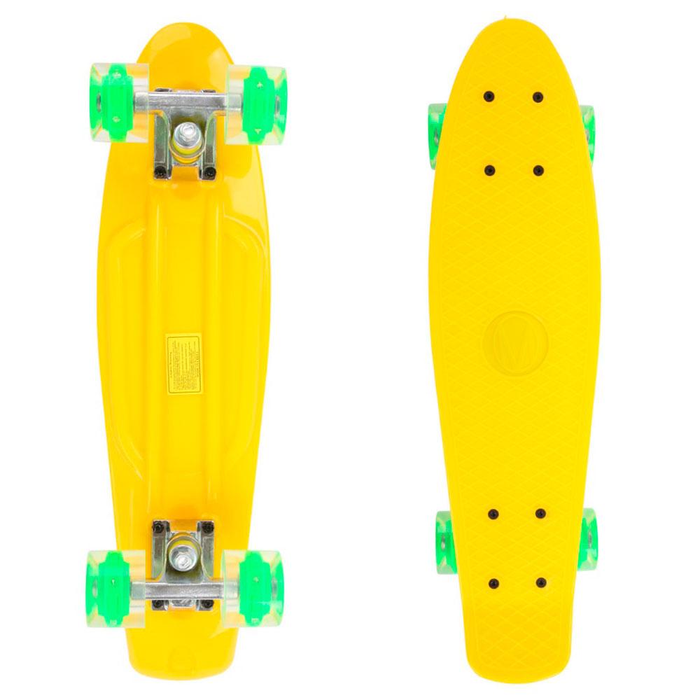 Penny board Maronad Retro se svítícími kolečky žlutá