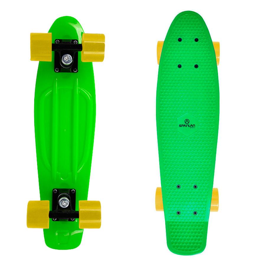 Penny board Spartan Plastic zelená