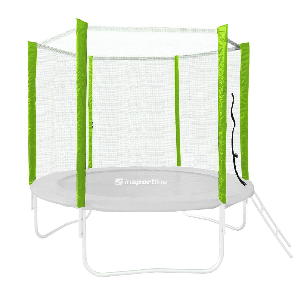 Ochranná síť pro trampolínu inSPORTline Froggy PRO 305 cm - 6 tyčí zelená