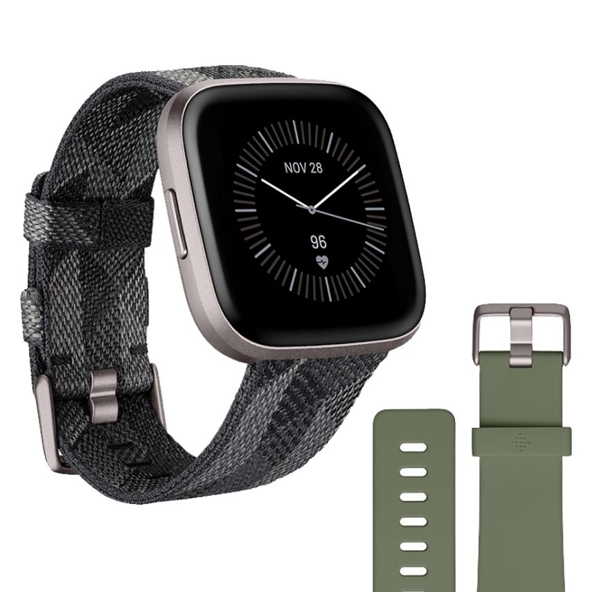 Chytré hodinky Fitbit Versa 2 Special Edition Smoke Woven