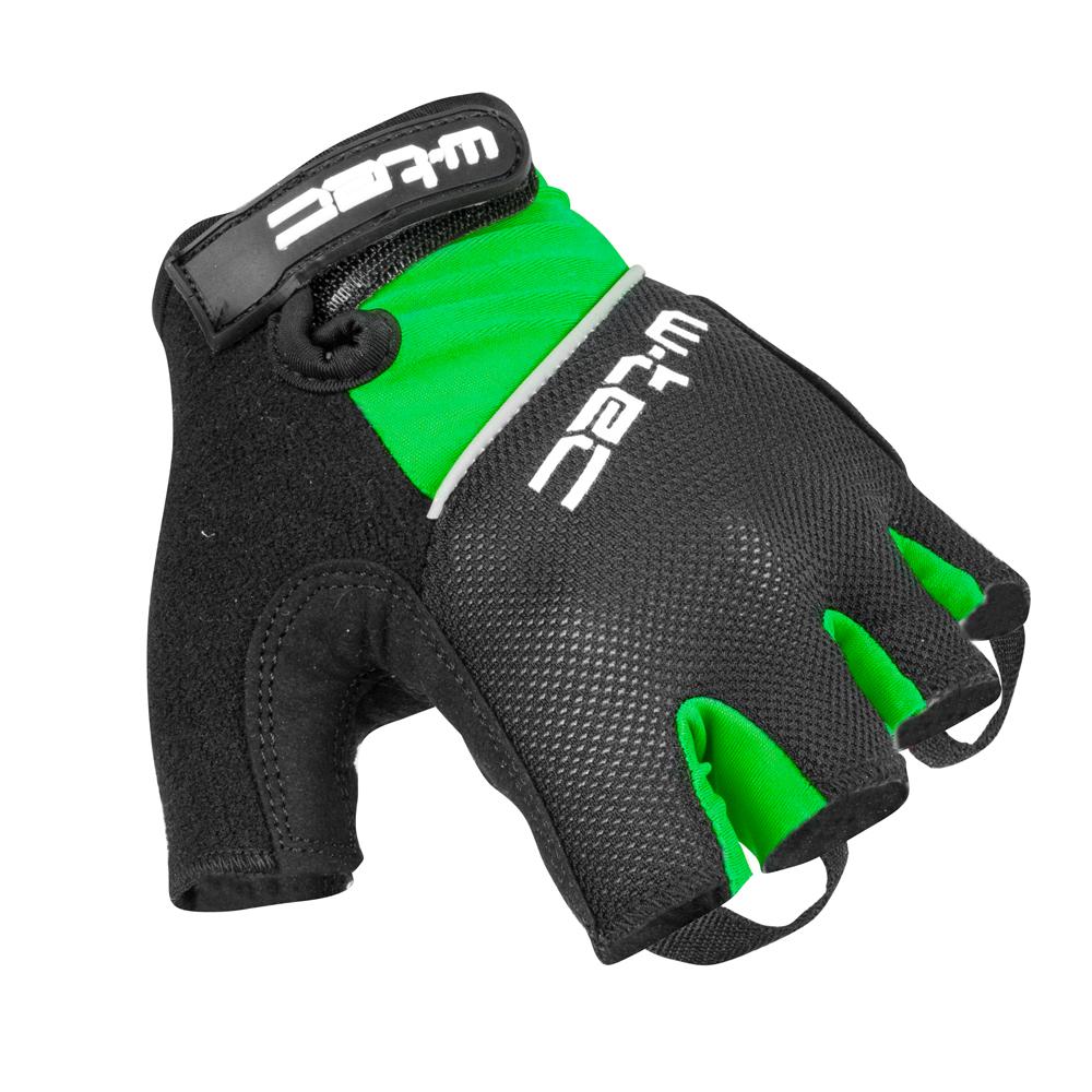 Cyklo rukavice W-TEC Bravoj AMC-1018-15 zeleno-černá - XS